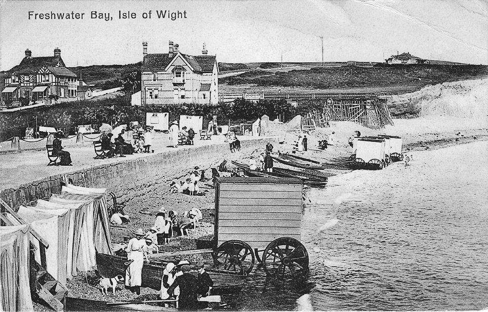 Freshwater Bay bathing machines