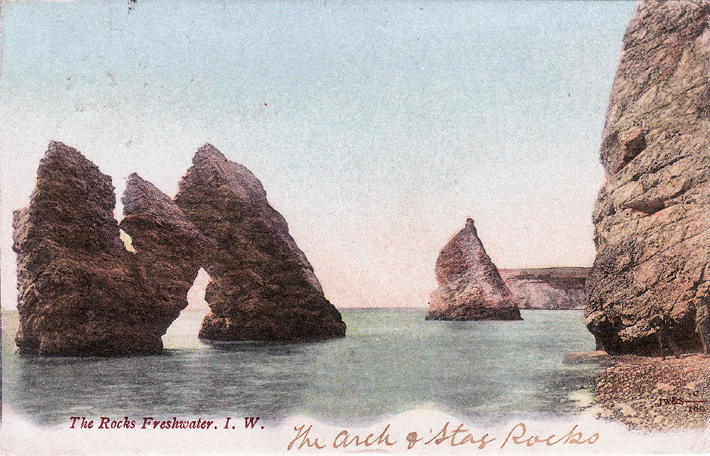 Arch and Stag rocks, Freshwater Bay